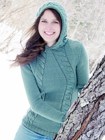 Faux Cable Hoodie Knitting Pattern | Knit One Crochet Too