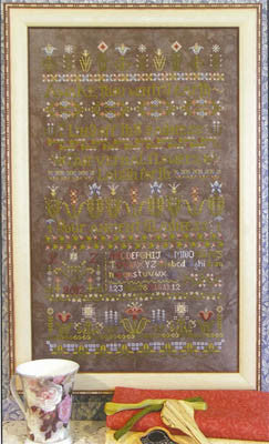 Flowers, Awake! Sampler Cross Stitch | S-1019 | Rosewood Manor