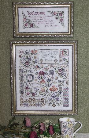 Flowers of Rosehall Sampler Cross Stitch | SS-103 | Rosewood Manor