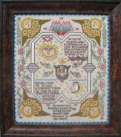 Four Angels Mouring Sampler Cross Stitch | Scarlet Letter