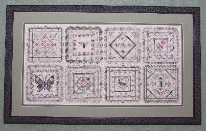 Garden Tiles Sampler Cross Stitch | S-1149 | Rosewood Manor