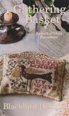 Gathering Basket | Reward of Merit Pincushion Series | Cross Stitch | Blackbird Designs