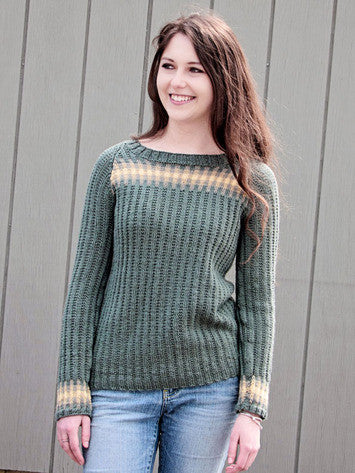 Gradient Pullover Knitting Pattern | Knit One Crochet Too
