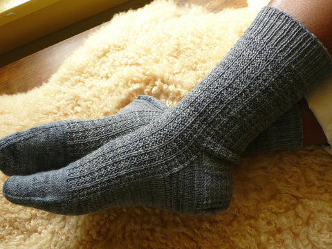 Gridiron Socks Knitting Pattern | KnitSpot