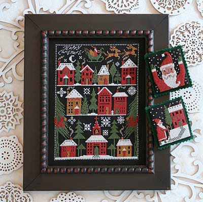 Happy Christmas  | Book No. 190 | Cross Stitch | Prairie Schooler