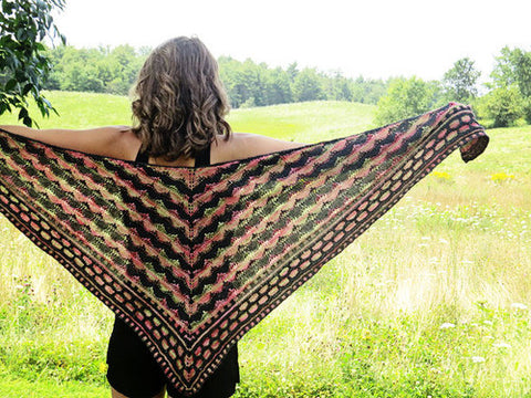 Heartbeat Shawl Knitting Pattern | Knit One Crochet Too