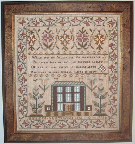Helen Vertue Sampler Reproduction | Scarlet Letter