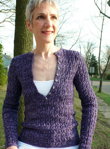 Henley with a Twist Pullover Knitting Pattern | KnitSpot