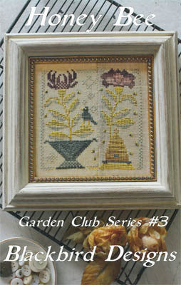 Honey Bee | Garden Club Series #3 | Cross Stitch | Blackbird Designs