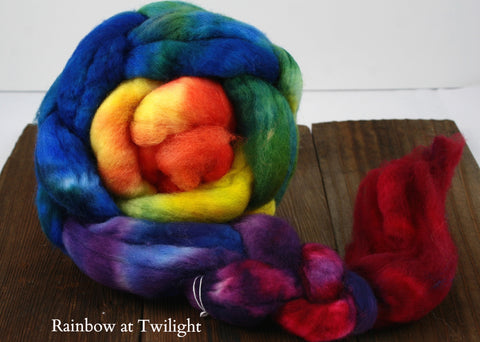 Colorshift Superwash BFL Braided Fiber | Frabjous Fibers