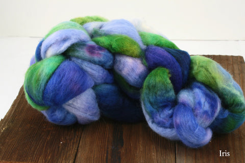 BFL Hand Dyed Braided Fiber | Frabjous Fibers