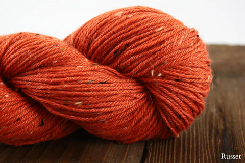 Russet Elfin Tweed Fingering Weight Yarn Knit One Crochet Too
