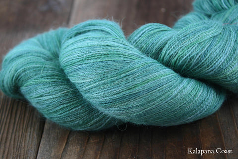 Kalapana Coast Hand Painted Alpaca Lace Yarn