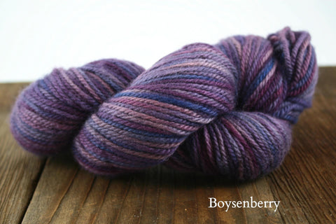 Boysenberry Hand Painted Hexham Aran Weight Yarn