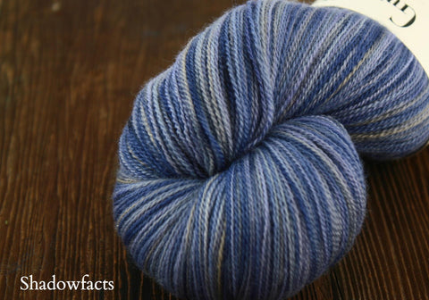 Shadowfacts Hand Painted Moriah Lace Weight Yarn