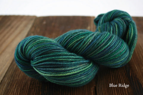 Blue Ridge Double Dyed Kona Aran Weight Yarn