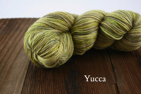 Yucca Hand Painted Cria y Seda Sport Weight Yarn