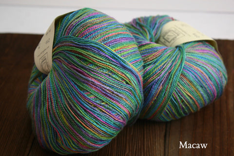Macaw  Findley Dappled Lace Yarn