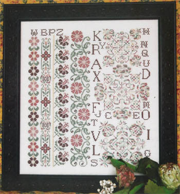 Just Peachy Sampler Cross Stitch | S-1059 | Rosewood Manor
