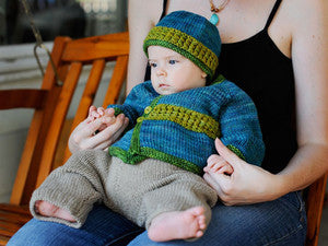 Kimono Infant Jacket Knitting Pattern | Carina Spencer