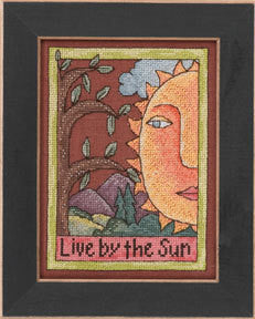 Live by the Sun Cross Stitch Kit | Mill Hill