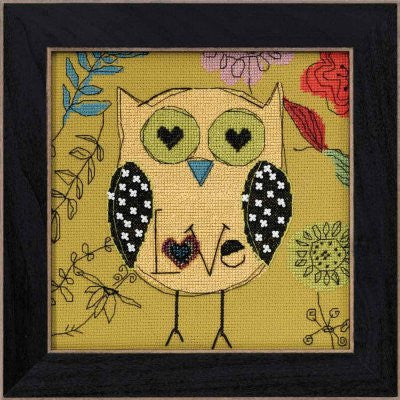 Love Amylee Weeks Owl Cross Stitch Kits | Mill Hill