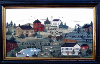 Love to One Primitive Cross Stitch | Primitive Traditions