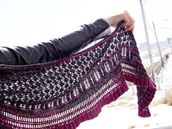 Mandeville Shawl Knitting Pattern | Knit One Crochet Too