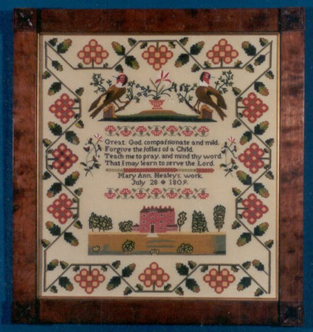 Mary Ann Healy Sampler Reproduction | Scarlet Letter