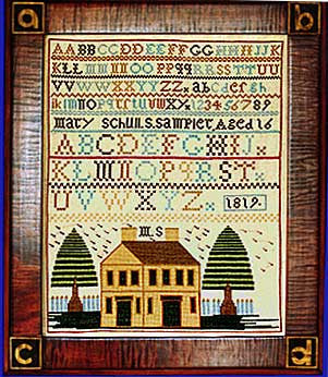 Mary Schull (1819) Sampler Cross Stitch | Scarlet Letter