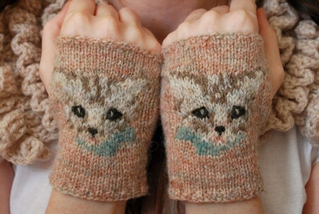 Meow Mitts Knitting Pattern Tiny Owl Knits Gypsy Wools
