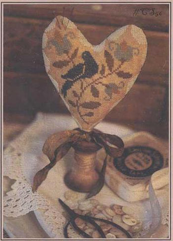 Needles & Pins Heart Pinkeep | CS56 | Cross Stitch | With Thy Needle and Thread