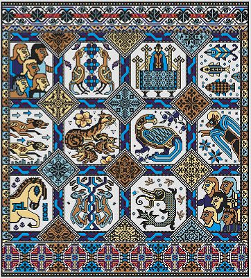 Opus Magnusson Reproduction Sampler Cross Stitch | Long Dog Designs