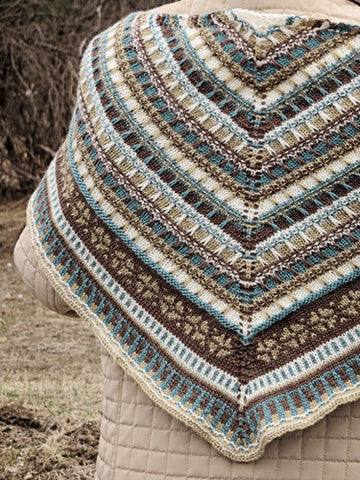 Oslo Shawl Knitting Pattern | Knit One Crochet Too