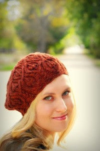 Autumn Vines Beret Knitting Pattern | Alana Dakos/Never Not Knitting Press (NNK)