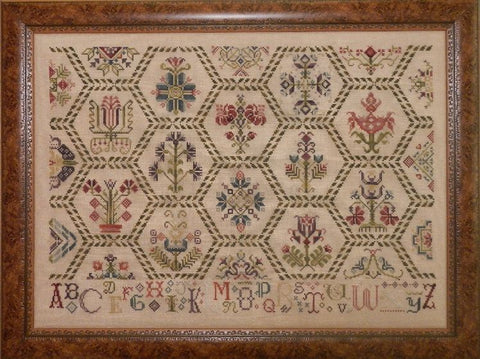 Parchment Tapestry Sampler Cross Stitch | S-1067 | Rosewood Manor