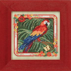 Parrot Cross Stitch Kit | Mill Hill