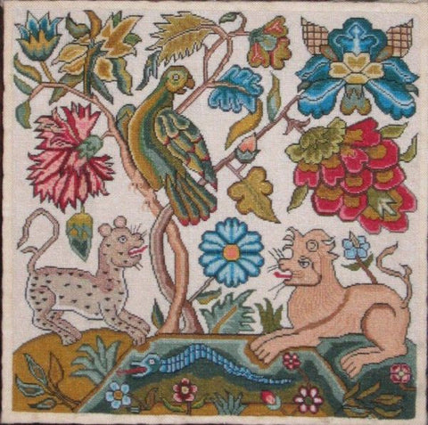 Parrot Leopard Lion Sampler Reproduction | Scarlet Letter