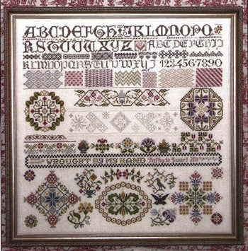 Past & Present Reproduction Sampler Cross Stitch | Rosewood Manor