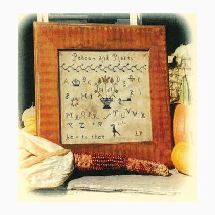Peace & Plenty Sampler | Cross Stitch | Notforgotten Farm