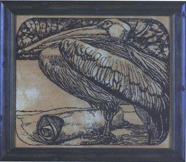 Pelican #9 | Cross Stitch | Courtney Collection