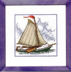 Sail Boat Kit | Cross Stitch | Kit | Cross Stitch | 122176 | Permin