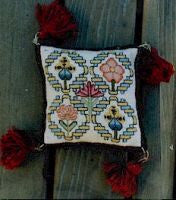 17th Cen. English Pin Pillow Reproduction Sampler Cross Stitch | Essamplaire