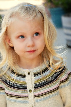 Playful Stripes Children's Cardigan Knitting Pattern | Never Not Knitting Press (NNK)