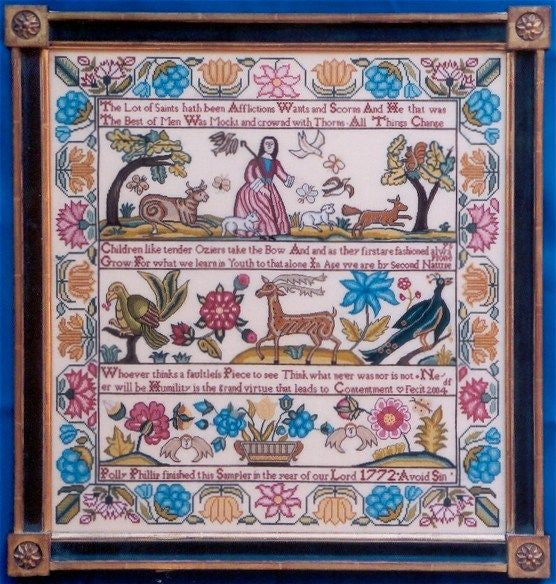 Polly Phillip Sampler Cross Stitch | Scarlet Letter – Gypsy Wools