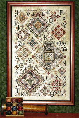 Quaker Diamonds Reproduction Sampler Cross Stitch | Rosewood Manor