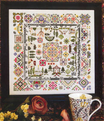 Quaker Village Sampler Cross Stitch | S-1041 | Rosewood Manor