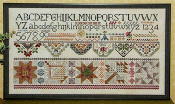 Quakers & Quilts Sampler Cross Stitch | S-1168 | Rosewood Manor