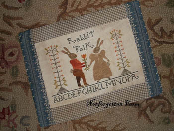 Rabbit Folk Sampler | Cross Stitch | Notforgotten Farm