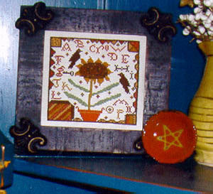 Redware Sunflower Sampler | Cross Stitch | Notforgotten Farm